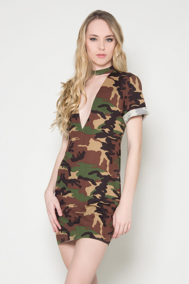 Attention camo tshirt dress trensy dresses for teenagers