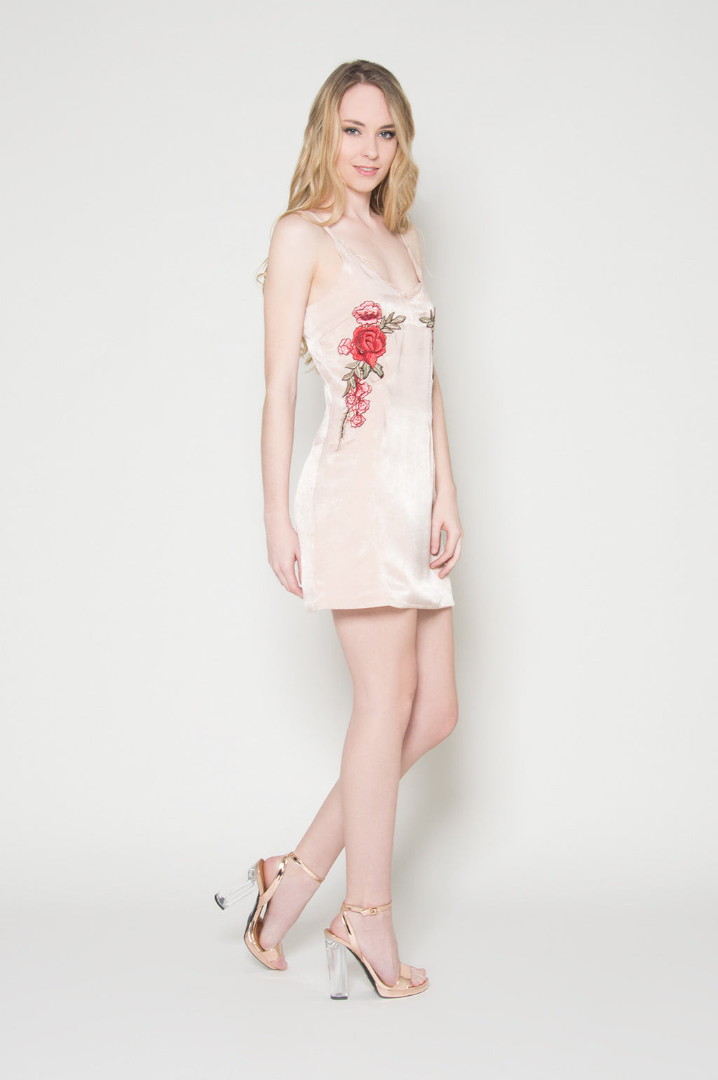 Bed of roses slip dress, Dresses