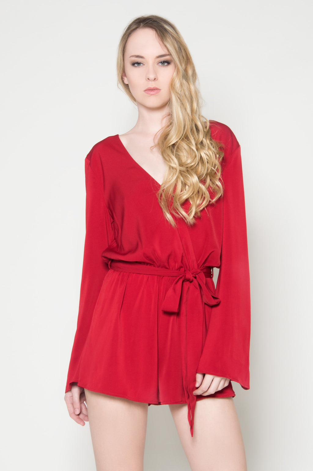 Valentina bell sleeve romper, Rompers