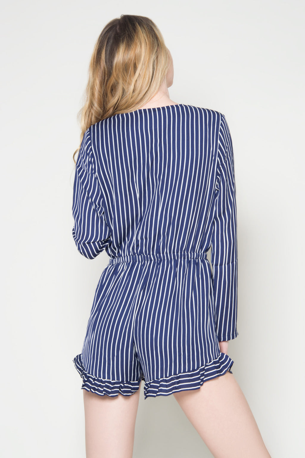 Nautical sweetheart striped romper, Rompers