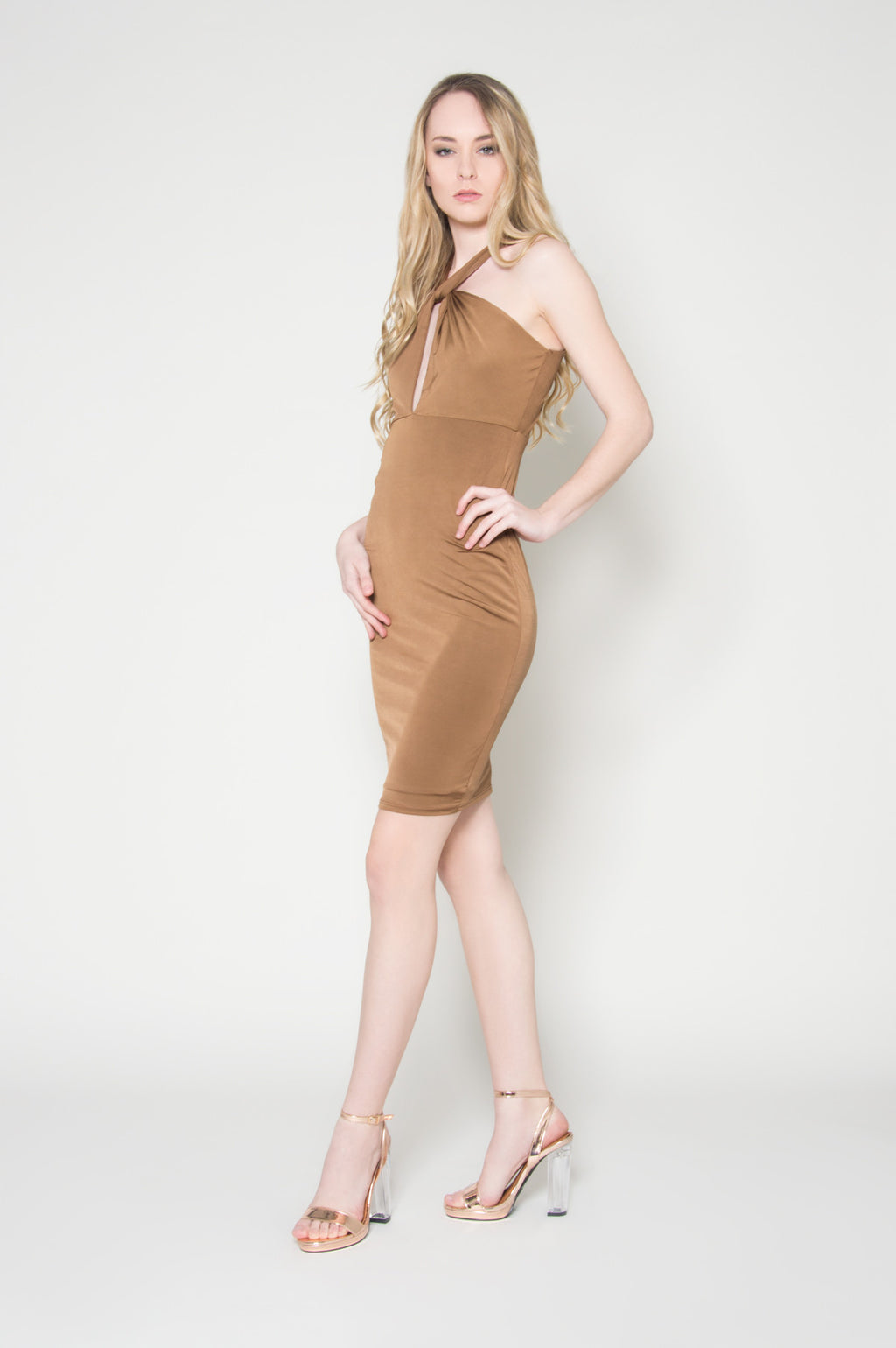 Mesmerized beyond explanation halter dress, Dresses
