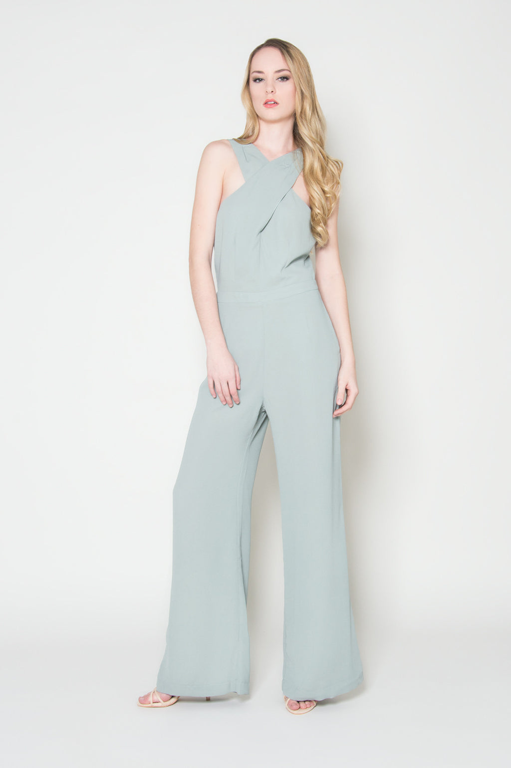 light blue sage jumpsuit long jumpsuits boutique