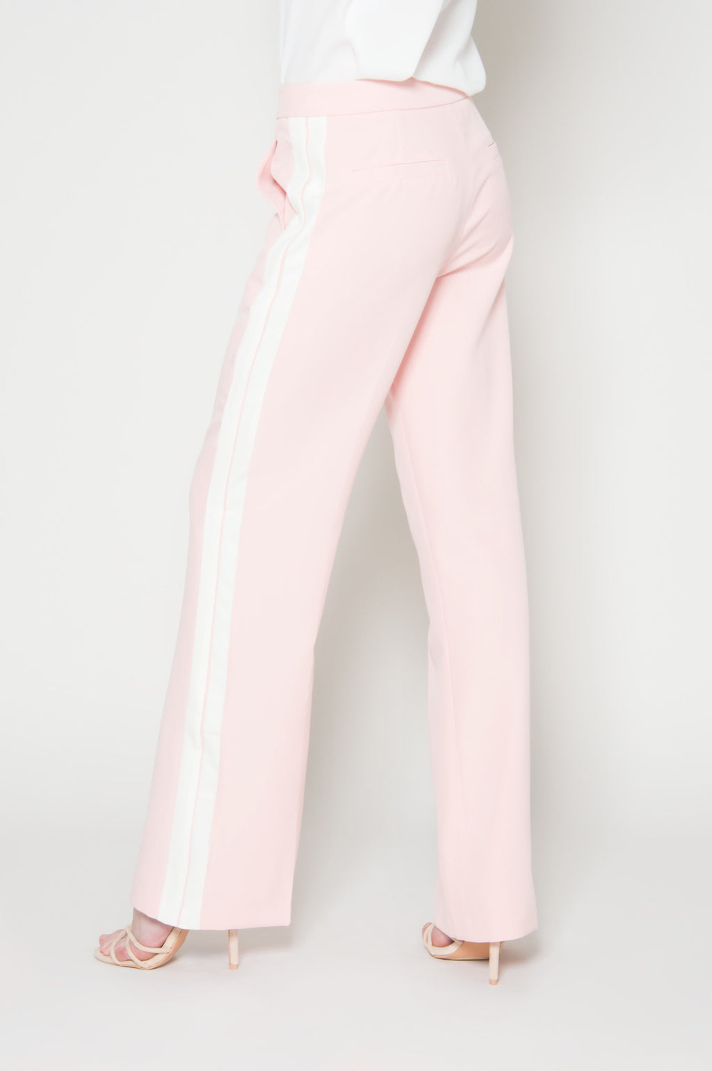 Glam charms flared stripe pants, Bottoms