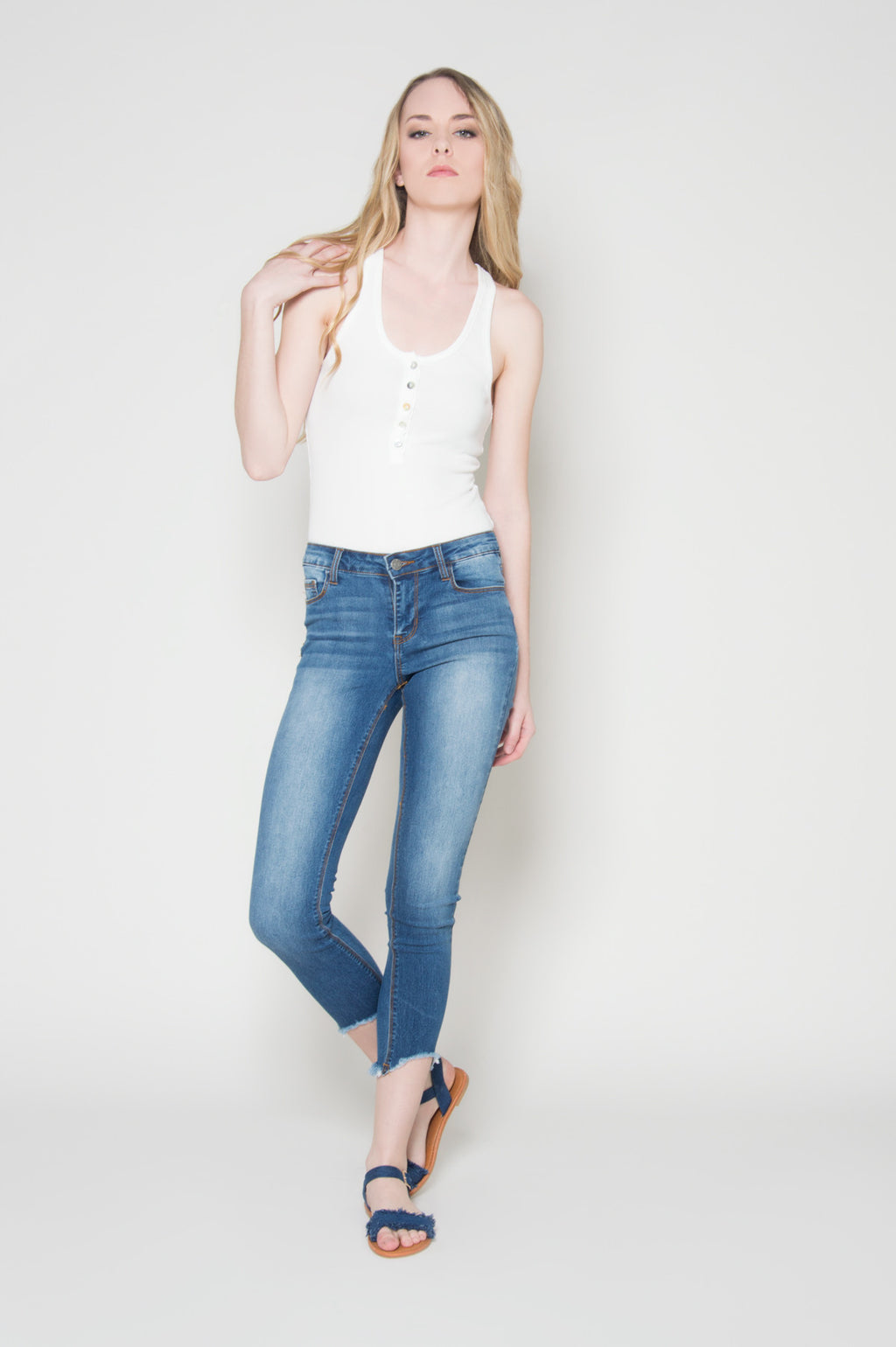 Back to basics cropped jeans, Bottoms
