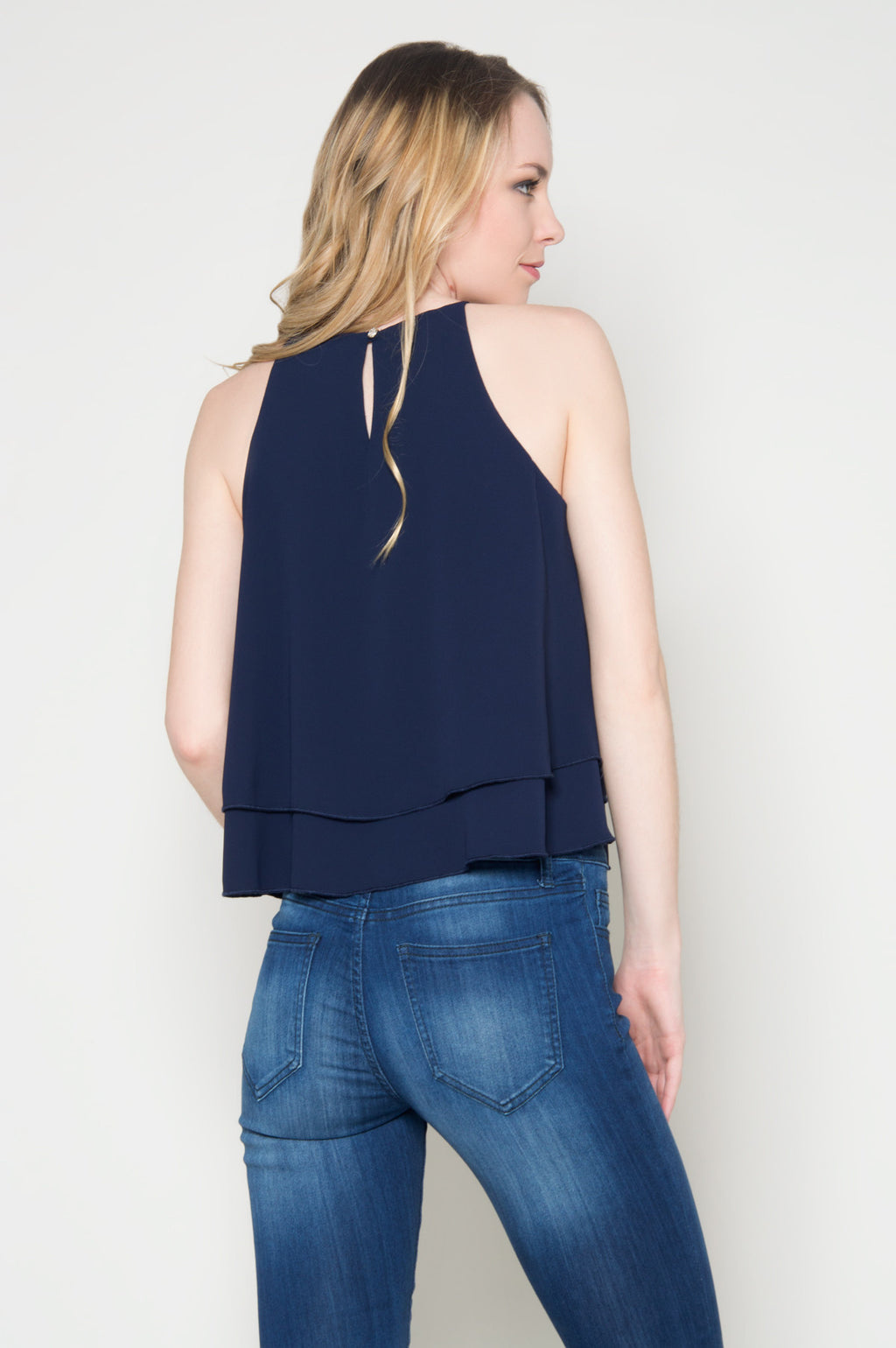 Perfect ten double layer halter top, Tops
