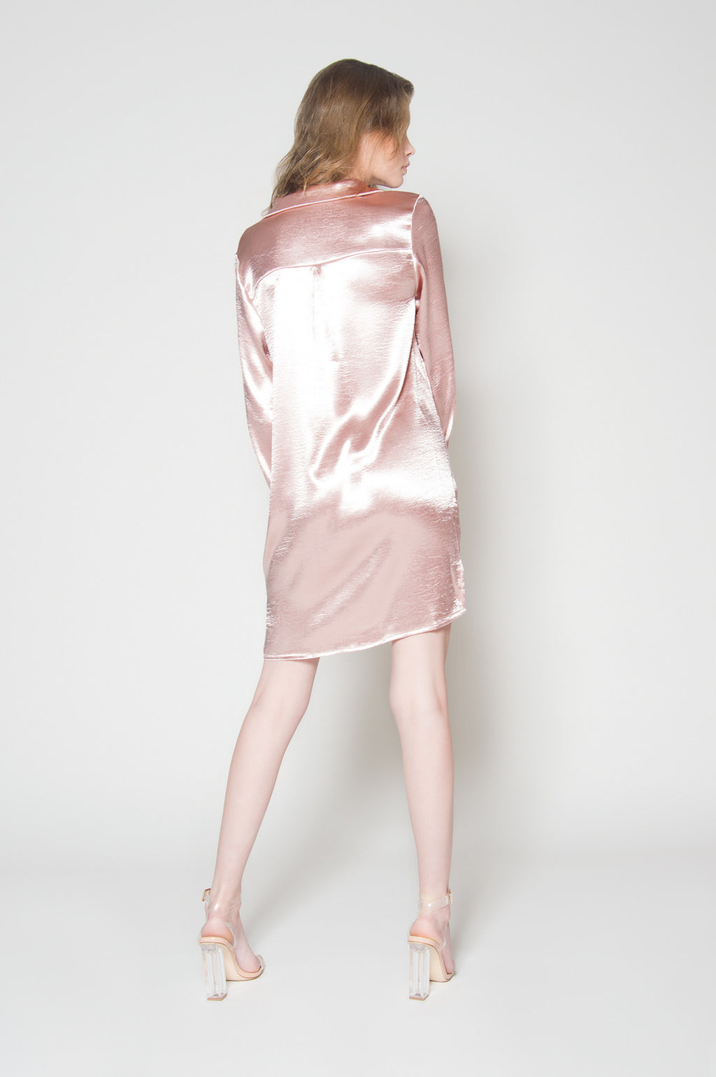 Satin beauty shirt dress, Dresses