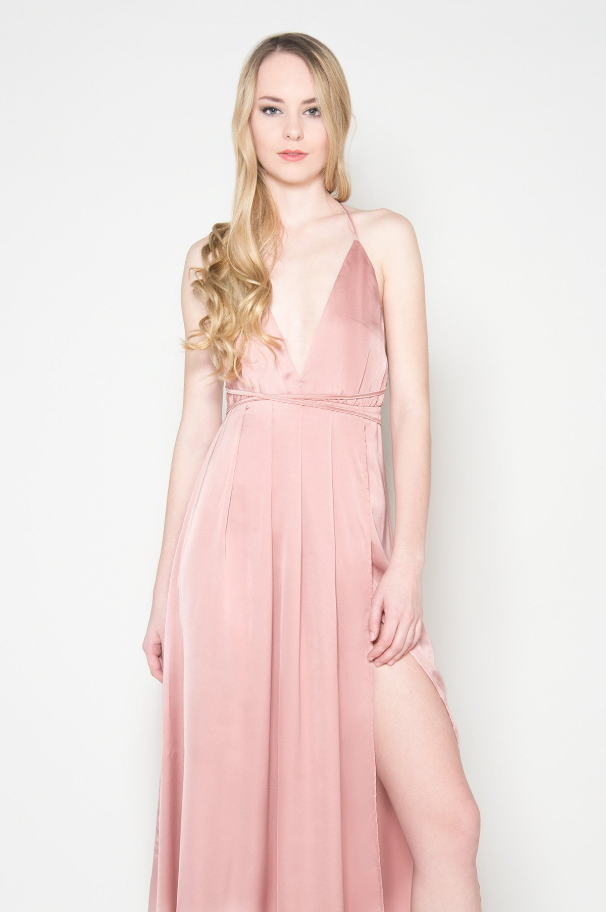 Pink Satin Gown