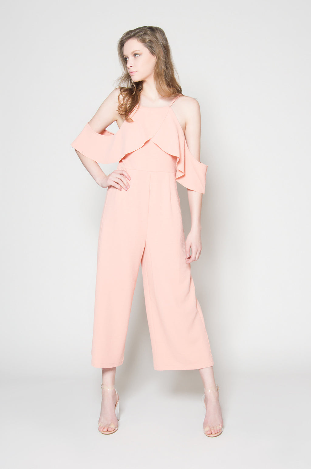 Sunset flare halter jumpsuit, Jumpsuits