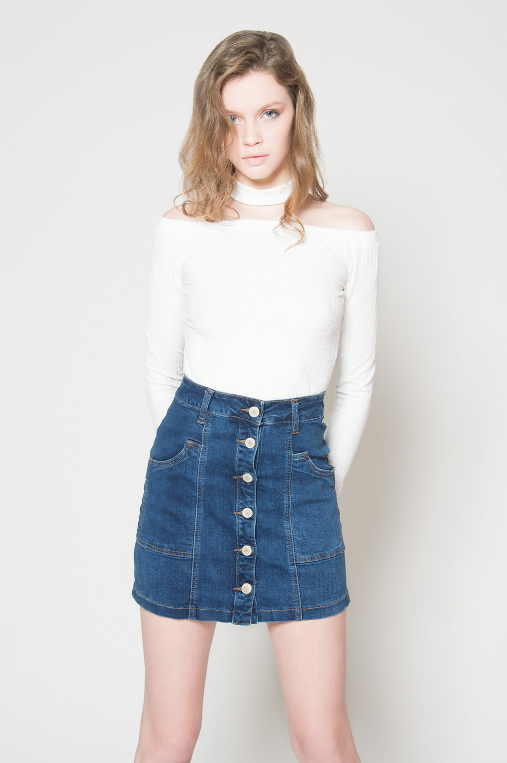 Hit the mark button up denim skirt, Bottoms