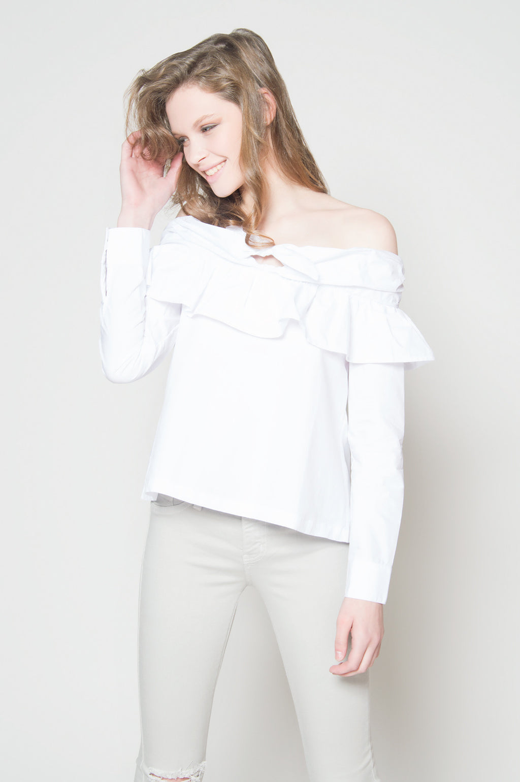 The now ruffle off shoulder, Tops