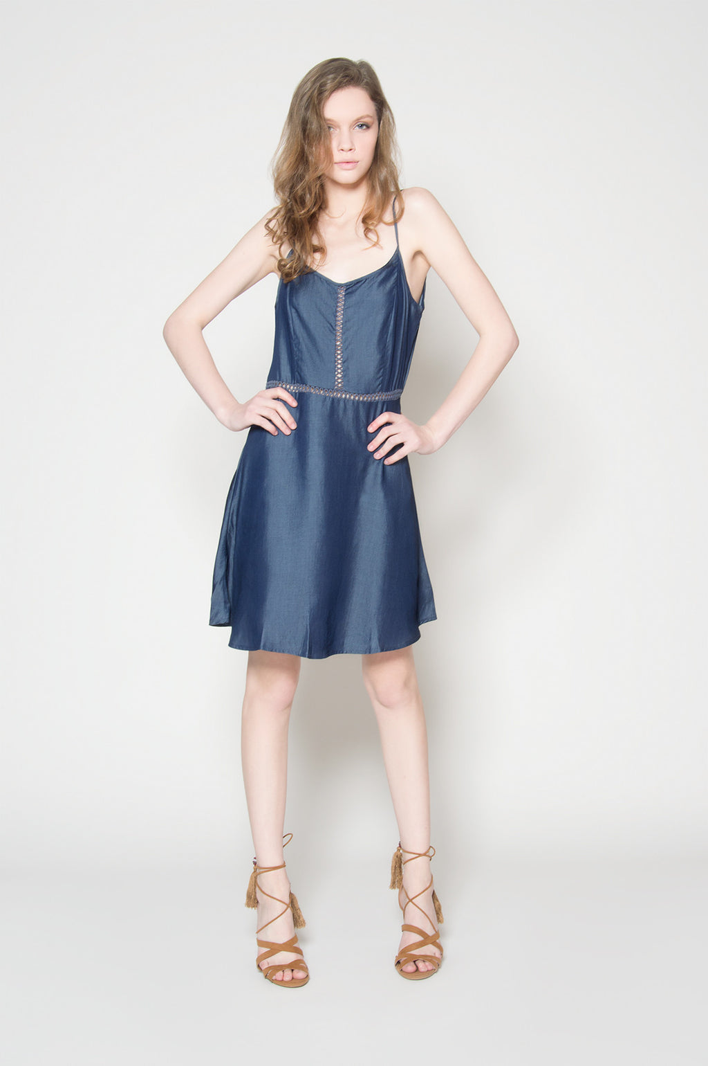 Tied together denim dress, Dresses