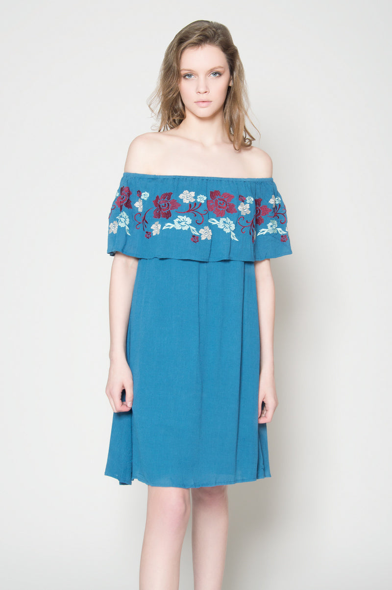 Wildflowers off shoulder dress, Dresses