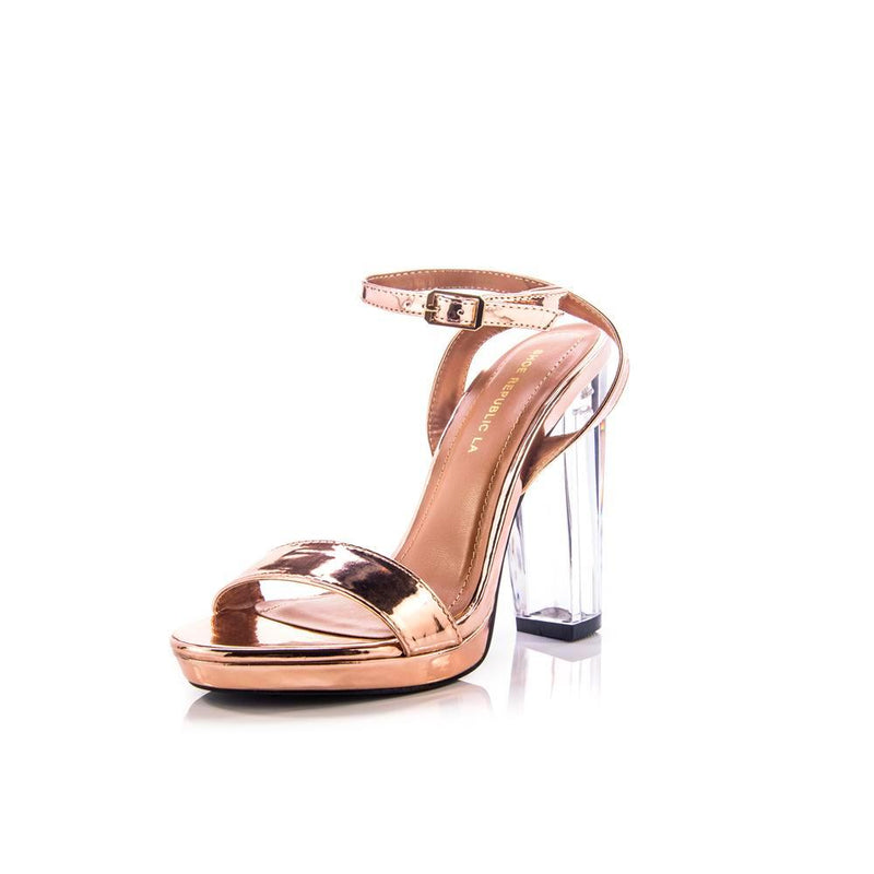 Rose gold heel