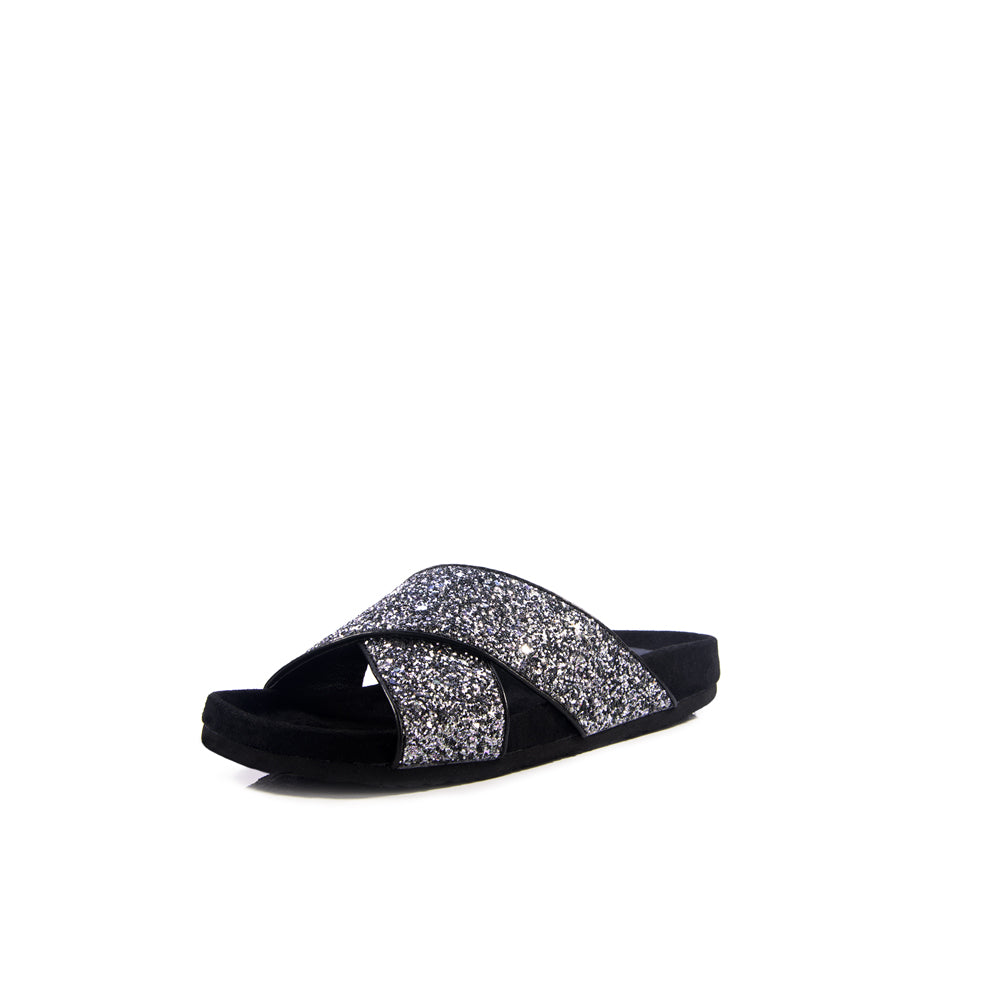 Stage girl glitter slide sandal