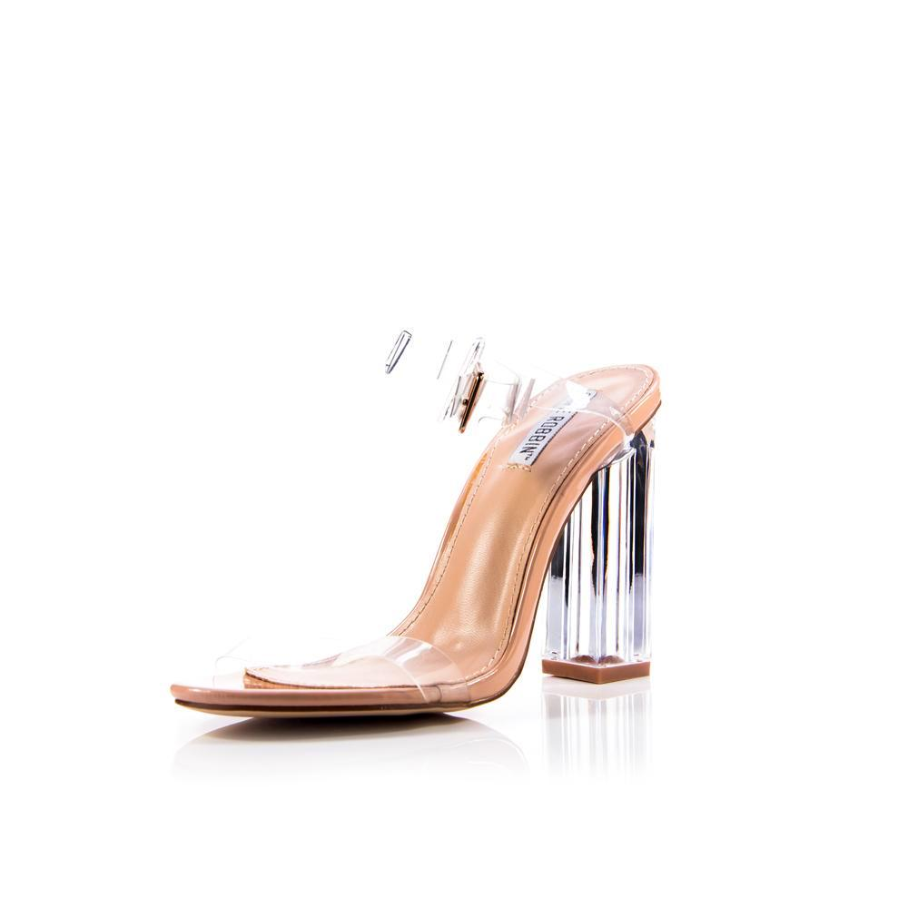 Nudist clear heels