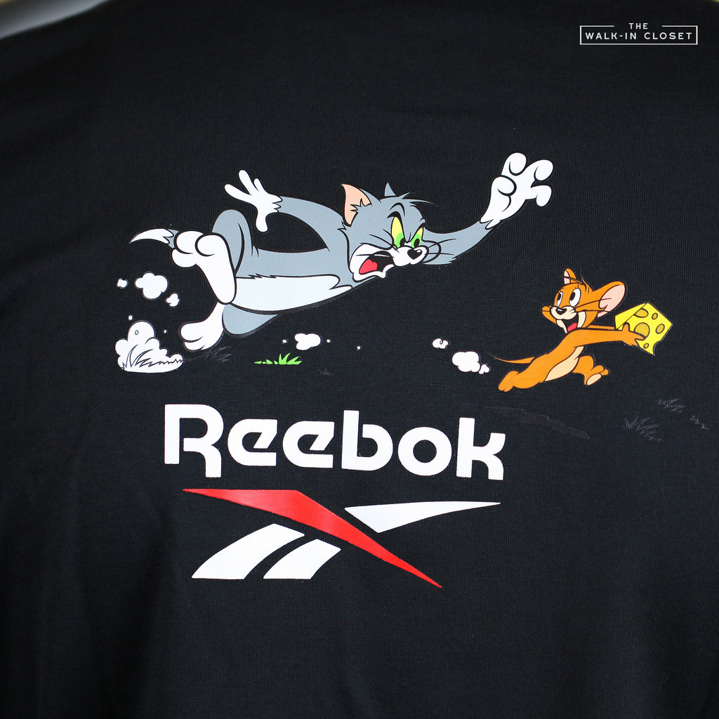 REEBOK X TOM AND JERRY STARS BLACK GRAPHIC TEE - GJ0470