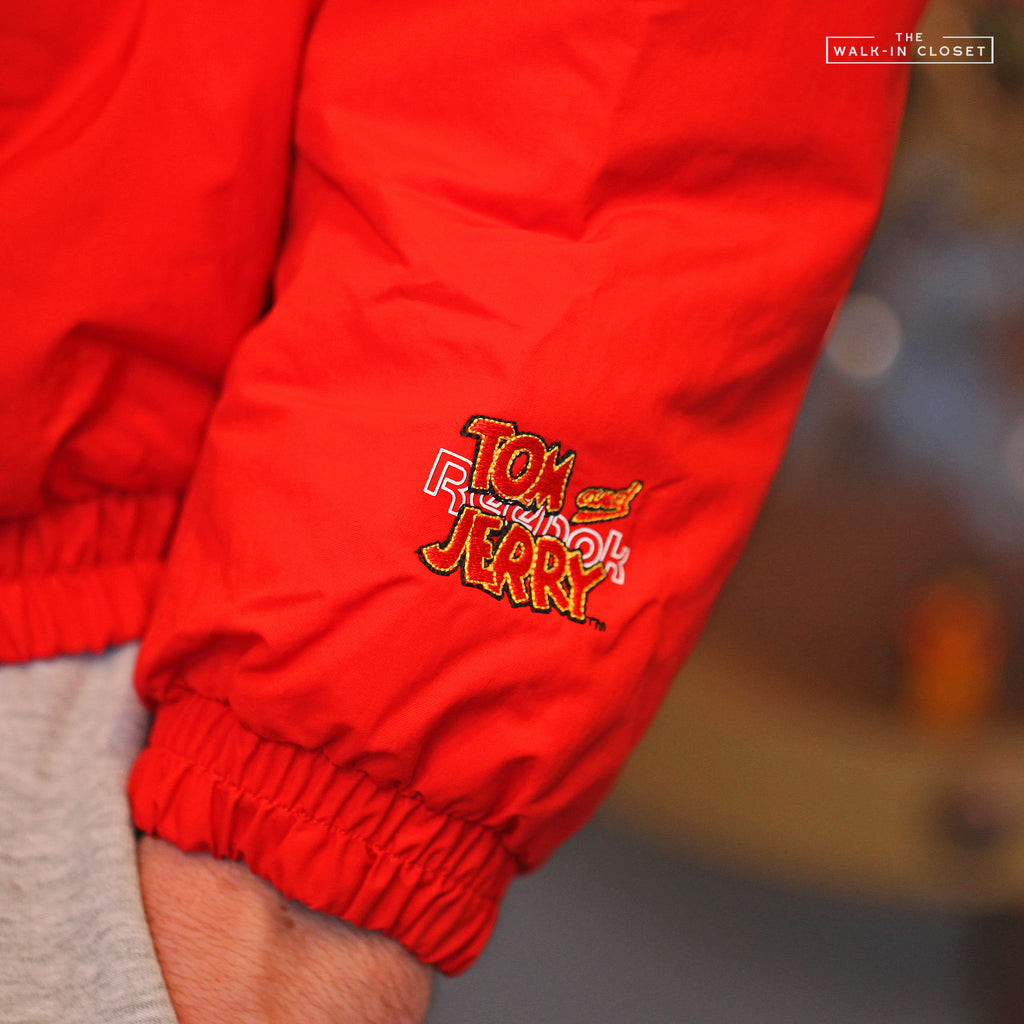"REEBOK X TOM AND JERRY WOVEN JACKET ""MOTOR RED"" - GJ0476"