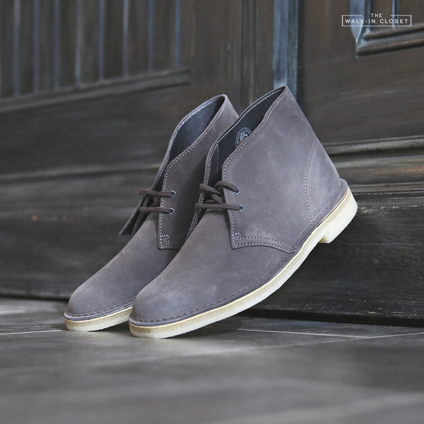 "CLARKS ORIGINALS DESERT BOOT ""SLATE GREY SUEDE"" - 26144232"