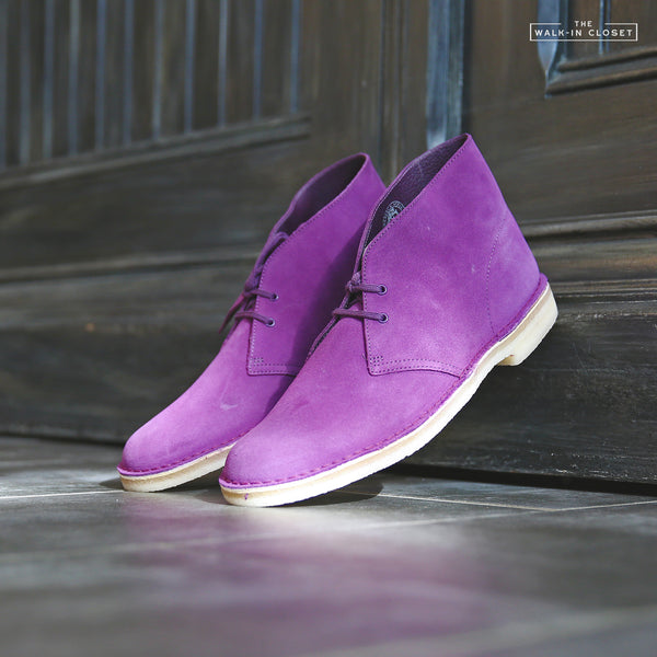 "CLARKS ORIGINALS DESERT BOOT ""DEEP PURPLE SUEDE"" - 26144167"