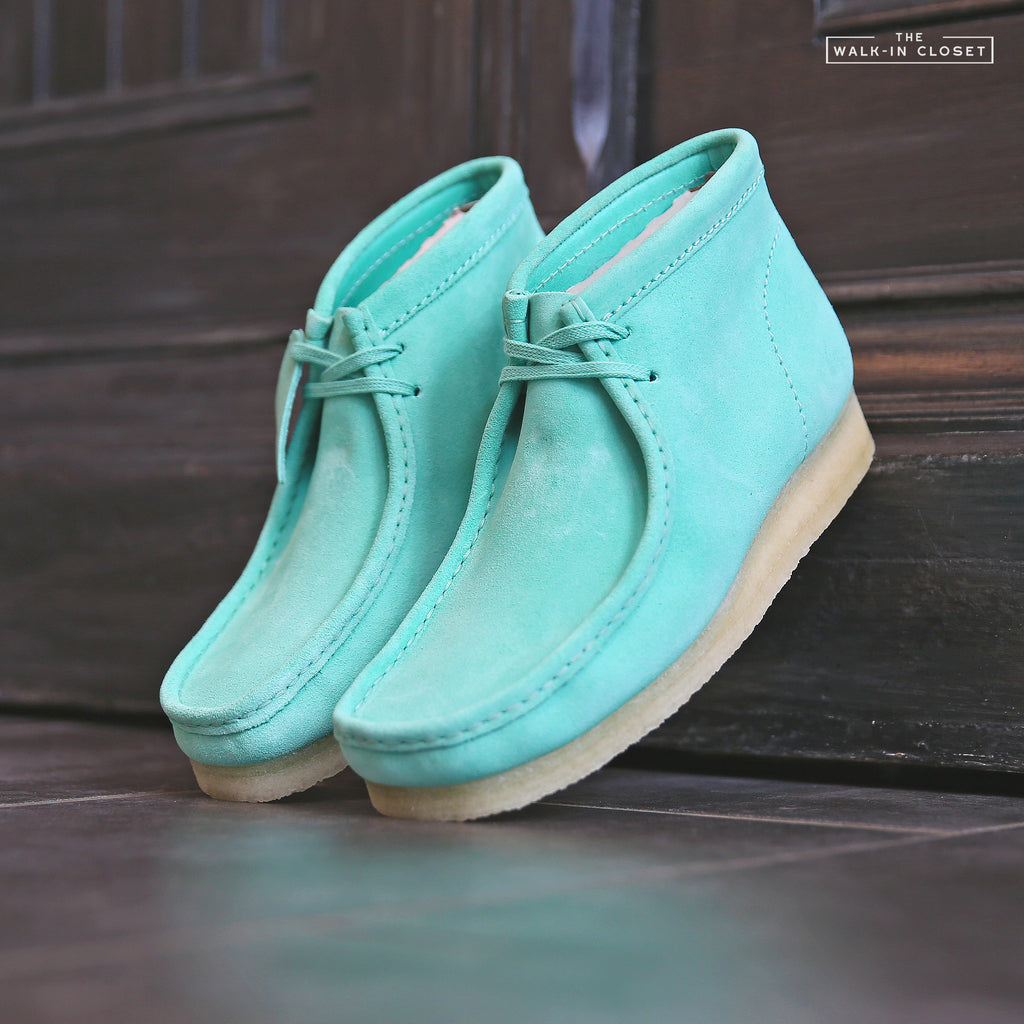 "CLARKS ORIGINALS WALLABEE BOOT ""SPEARMINT SUEDE"" - 26145283"