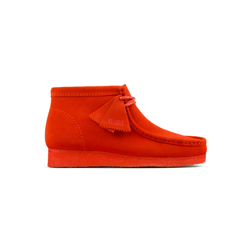 "CLARKS ORIGINALS WALLABEE BOOT ""RED SUEDE"" - 26154745"