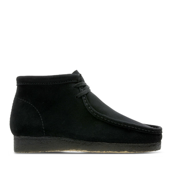 "CLARKS ORIGINALS WALLABEE BOOT ""BLACK SUEDE"" - 26155517"