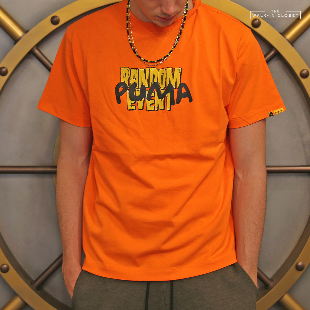 "PUMA X RANDOMEVENT® TEE ""VERMILLION ORANGE"" - 596665-40"