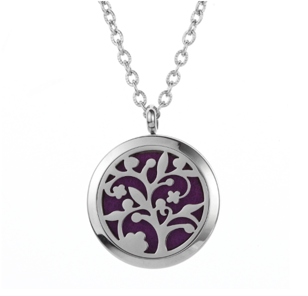 Essential oil diffuser necklace tree of life aromatherapy pendant essential oil diffuser necklace tree of life aromatherapy pendant velvet jewelry bag aloadofball Image collections