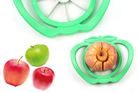 Vegetable Slicer Apple Pear Cutter Knife Corers ABS Stainless Steel
