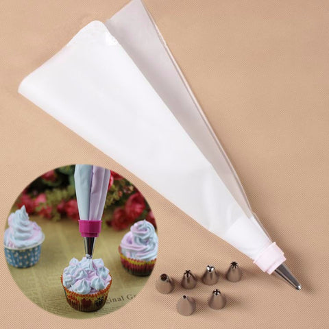 Stainless Steel Pastry 4 Pastry tube with a small spatula mouth Decorating Kit