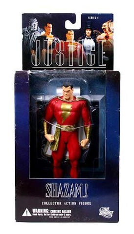 "DC Justice series 1 Shazam 6"" action figure by ALEX ROSS - Far West Toys"