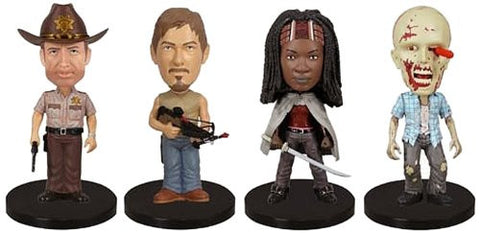 Wacky Wobbler: Walking Dead 4 piece Mini Wobbler Set - Far West Toys