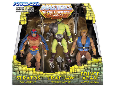 Power-Con Exclusive MOTU Classics 3-Pack: Stratos, Trap Jaw and Prince Adam