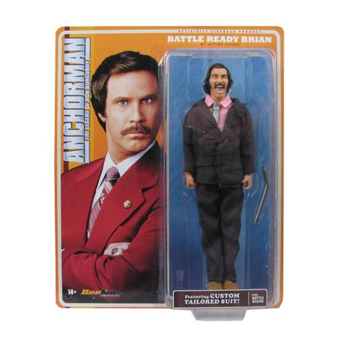 Anchorman Battle Ready Brian Fantana 8-Inch Action Figure - Far West Toys