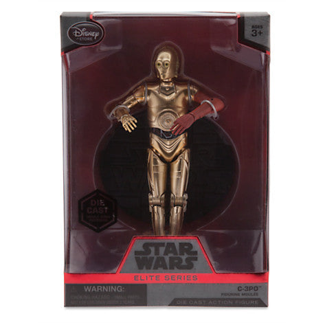 C-3PO Elite Series Die Cast Action Figure - 6 1/2'' - Star Wars: The Force Awakens Disney Exclusive - Far West Toys