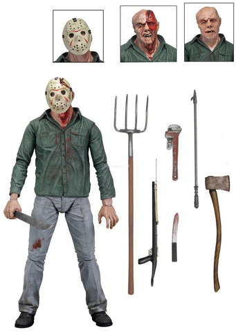 "Friday the 13th - 7"" Scale Action Figure - Ultimate Part 3  3-D Jason Voorhees - Far West Toys"