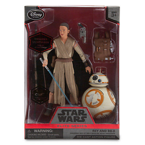 Disney Store Star Wars Force Awakens Elite Die Cast Action Figure Rey BB-8 - Far West Toys