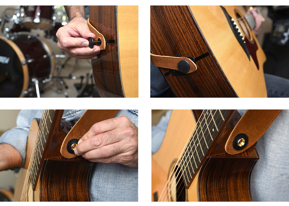 Strap Jack - Guitar Strap Lock System Installed