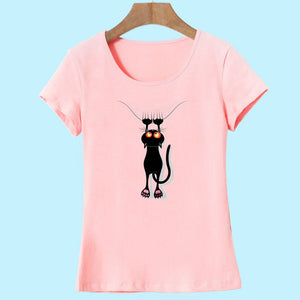 Casual Cotton 3D Cat Print T-Shirt Short Sleeve O-Neck S-M-L-XL-XXL - The GearBuyz Store