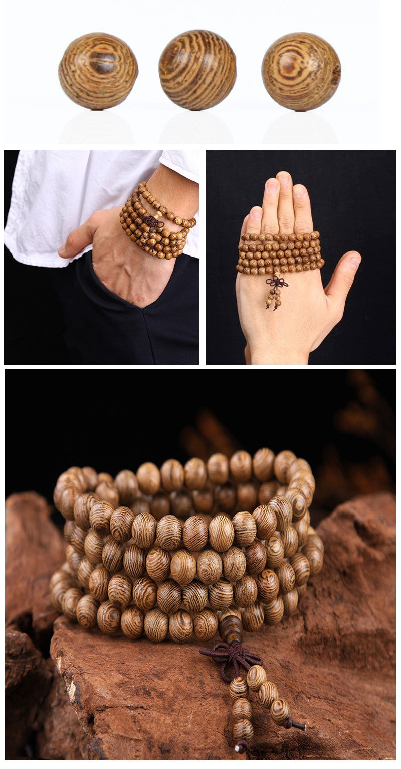 Antique 8mm Wenge Mala Buddha Bracelet - The GearBuyz Store