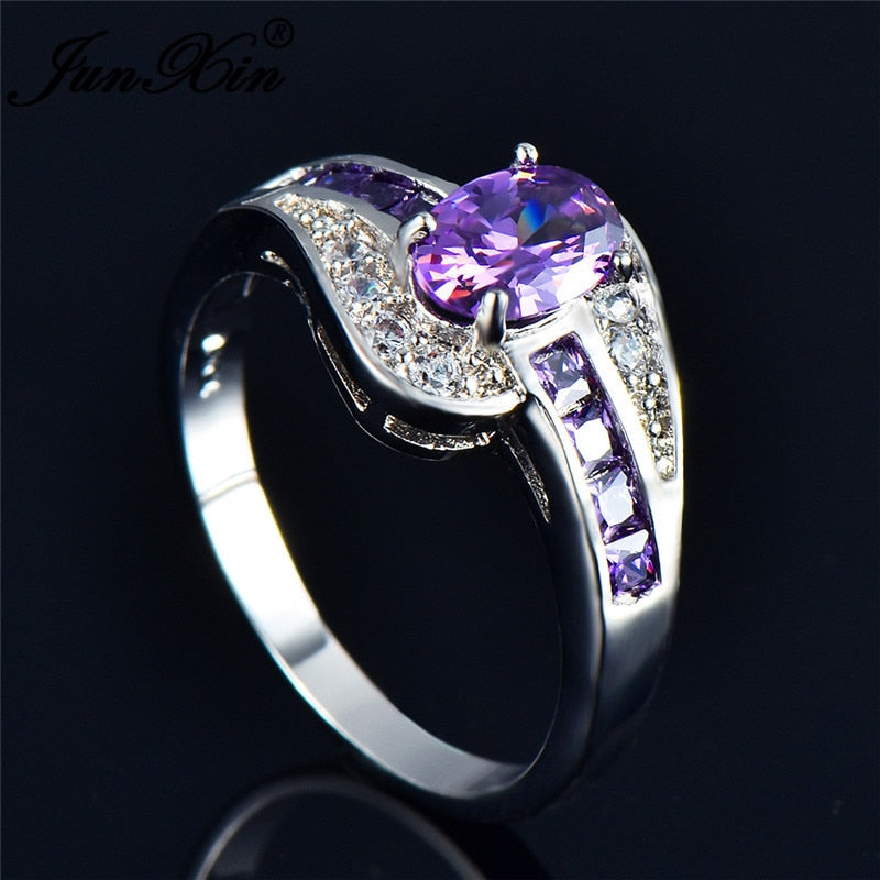 February Birth Stone Ring - Purple - The GearBuyz Store