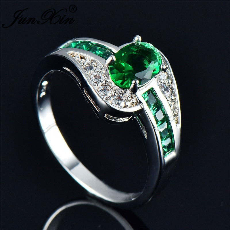 May Birth Stone Ring - Emerald Green - The GearBuyz Store
