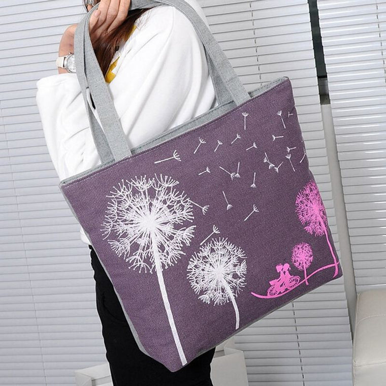 Dandelion Canvas Shoulder Bag - The GearBuyz Store