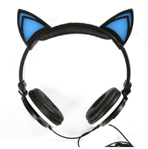 Flashing Glowing Cat Ear Headphones - The GearBuyz Store