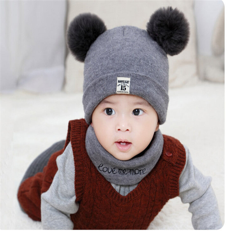 2 Pieces Beanie Cap And Scarf Set - The GearBuyz Store