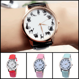 Cartoon Cat Watch Quartz Wrist Watch - The GearBuyz Store