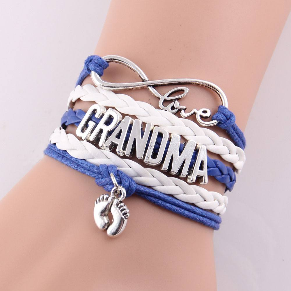 Love Mom & Grandma Infinity Bracelets In Multiple Colors & Styles - The GearBuyz Store