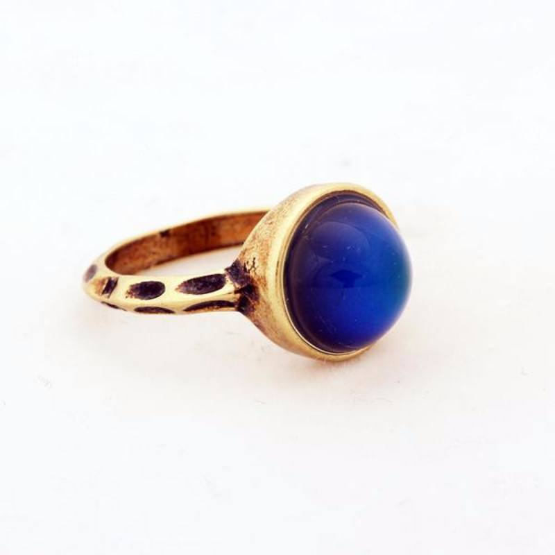 1 PC Handmade Bohemian Antique Bronze Plated Color Changing Mood Rings Sizes 7 8, & 9 - The GearBuyz Store