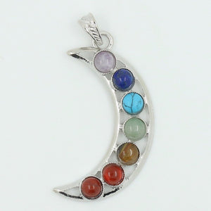 7 Chakra Natural Stone Pendant Angel Wings, Health Amulet, Fashion 7 Reiki Yoga Jewelry Pendants - The GearBuyz Store