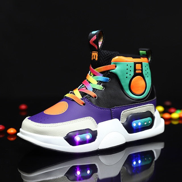 Led Back White Led Shoes For Kids and Teens - The GearBuyz Store